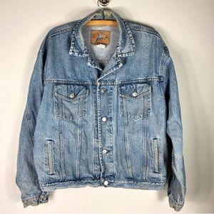 Vintage GAP Denim Jean Jacket Coat Distressed